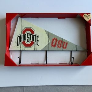 Ohio State Buckeyes Pennant Plaque with hooks